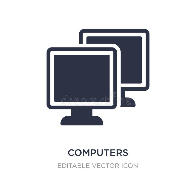 komputer ikona na białym tle Prosta element ilustracja od Komputerowego pojęcia ilustracji