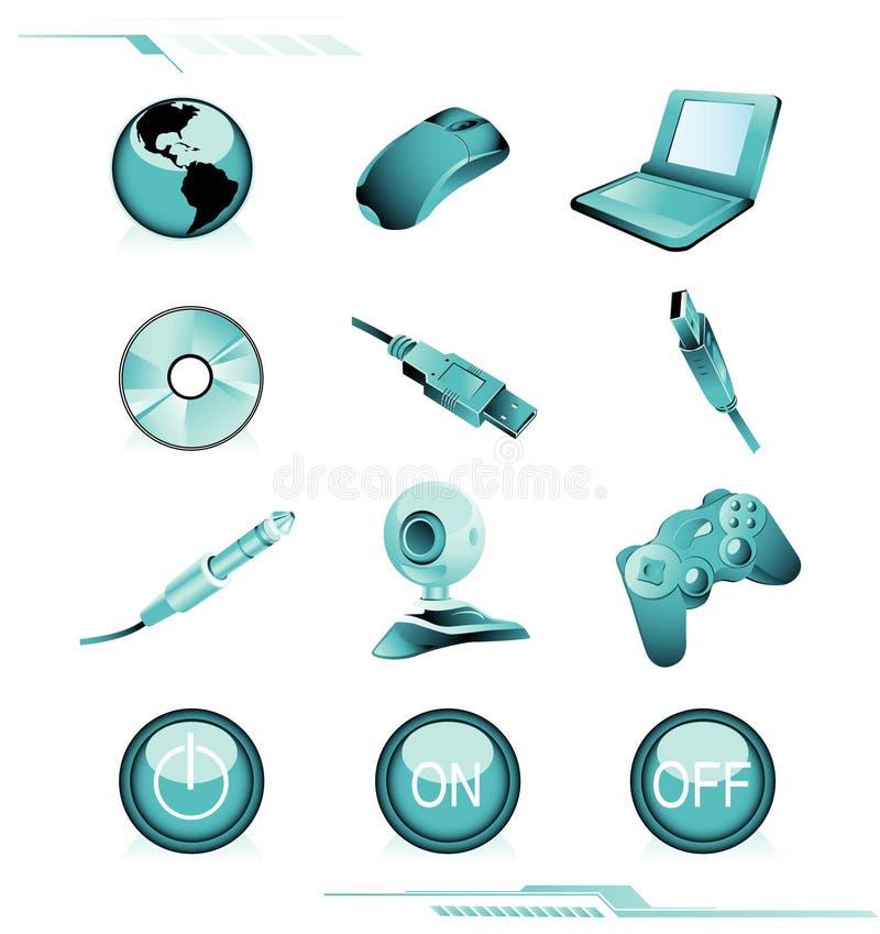 komputer ikony wektorowe ilustracja wektor