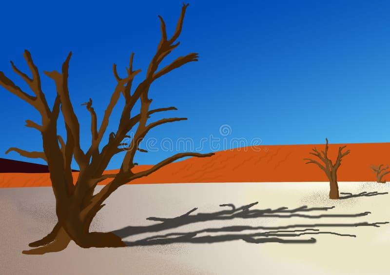 Komputer ilustruje krajobraz tła ilustracja wektor