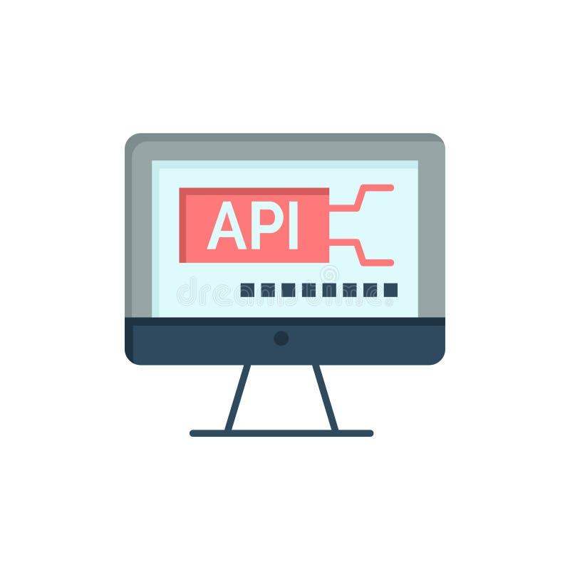 Komputer, kod, cyfrowanie, edukacja koloru Płaska ikona Wektorowy ikona sztandaru szablon ilustracja wektor
