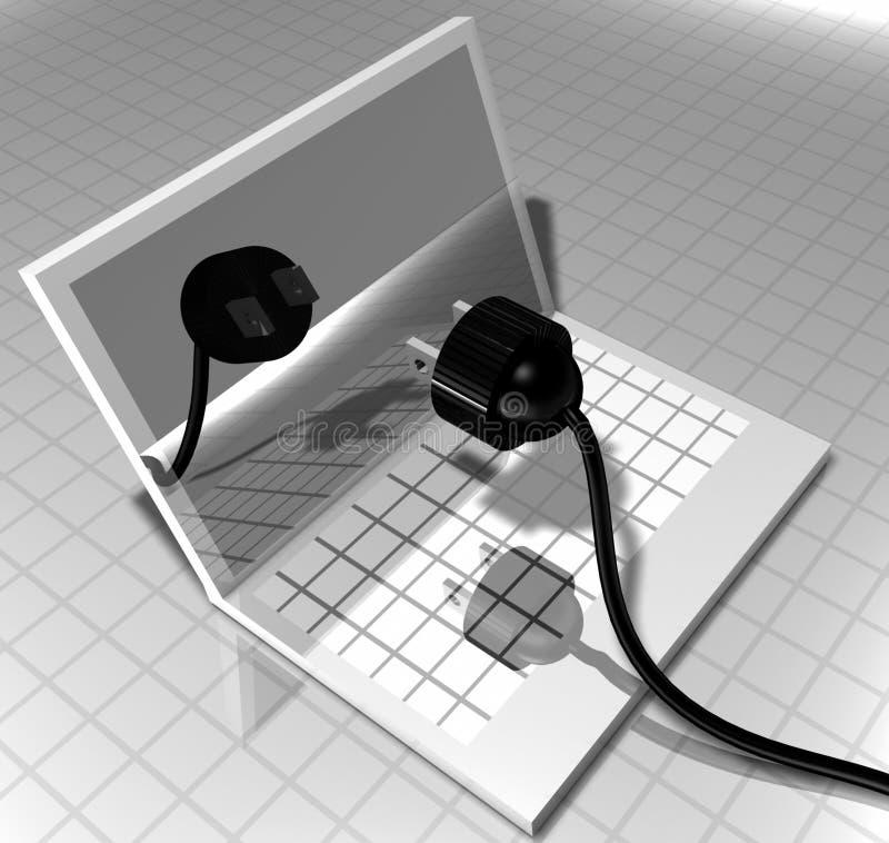 komputer korek ilustracji