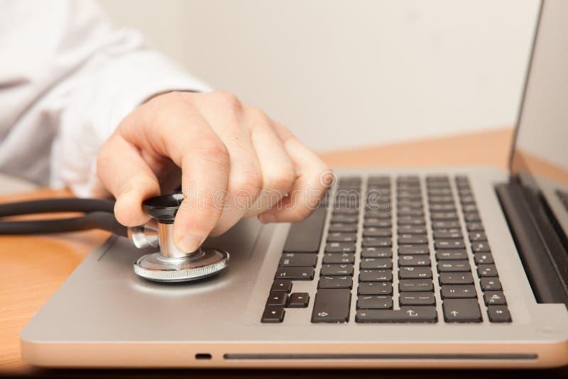 Komputer lekarka obraz stock