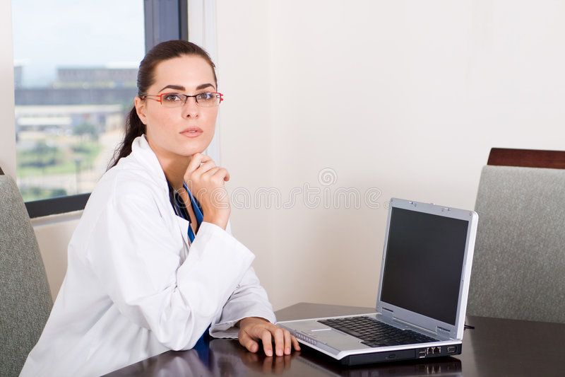 komputer lekarka zdjęcia stock