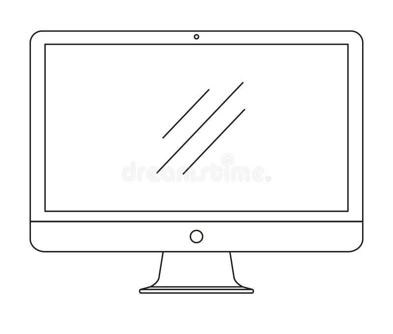 Komputer, monitor odizolowywający na białym tle również zwrócić corel ilustracji wektora royalty ilustracja