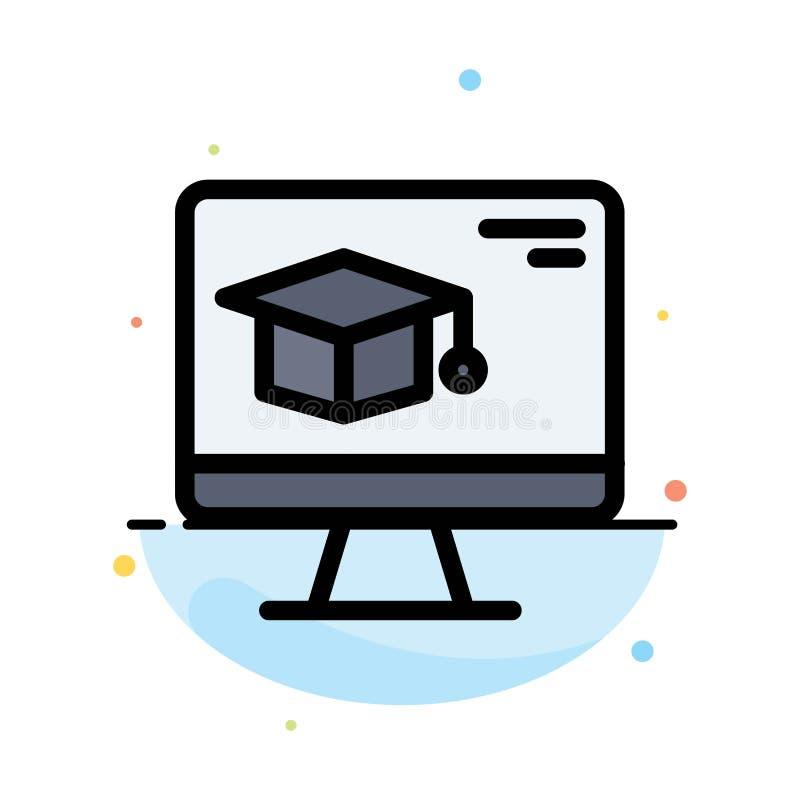 Komputer, nakrętka, edukacja, skalowanie koloru ikony Abstrakcjonistyczny Płaski szablon ilustracji