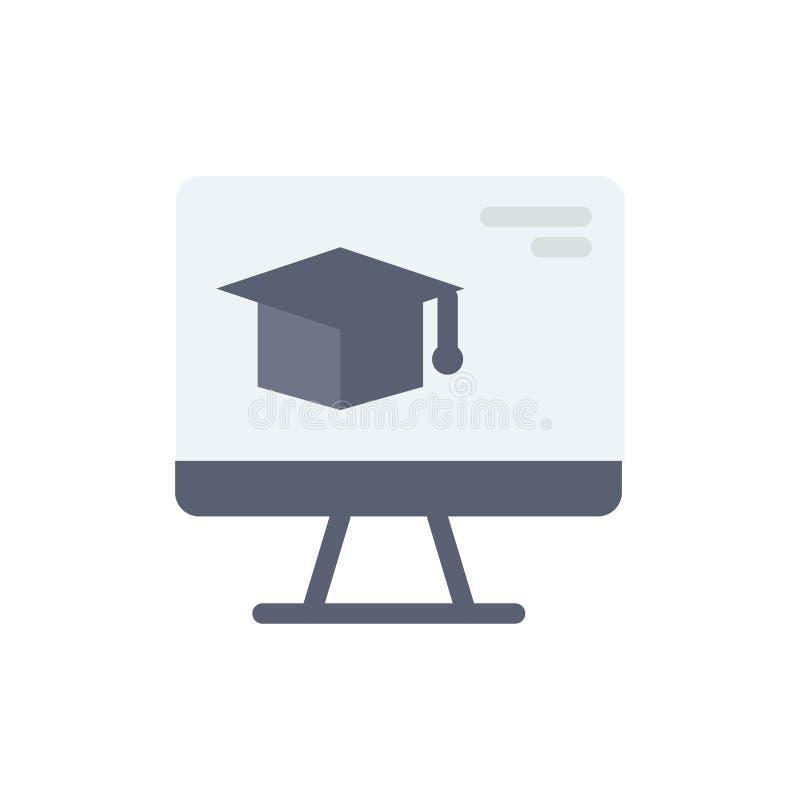 Komputer, nakrętka, edukacja, skalowanie koloru Płaska ikona Wektorowy ikona sztandaru szablon ilustracji