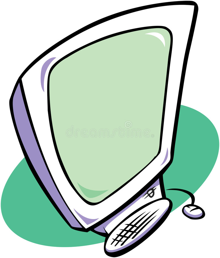 komputer nowoczesnego royalty ilustracja