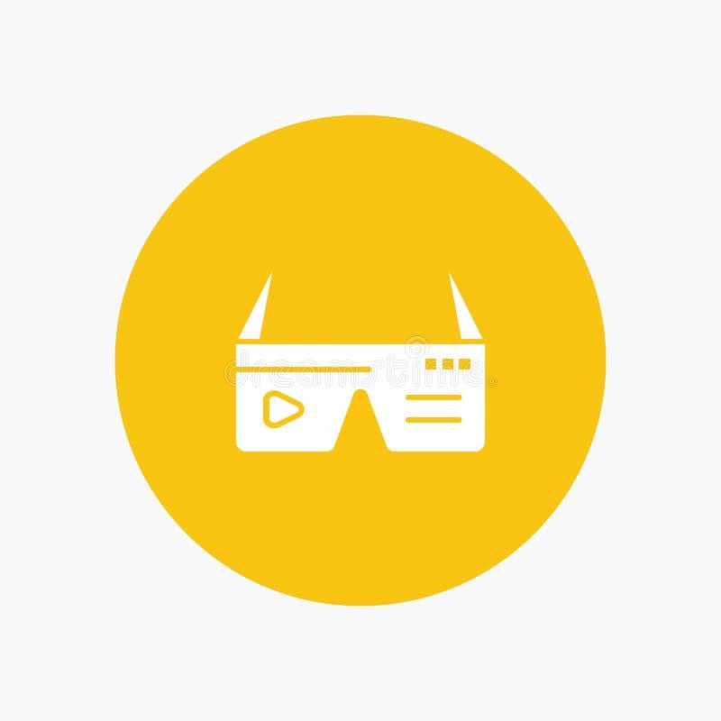 Komputer, Oblicza, Digital, szkła, Google ilustracja wektor