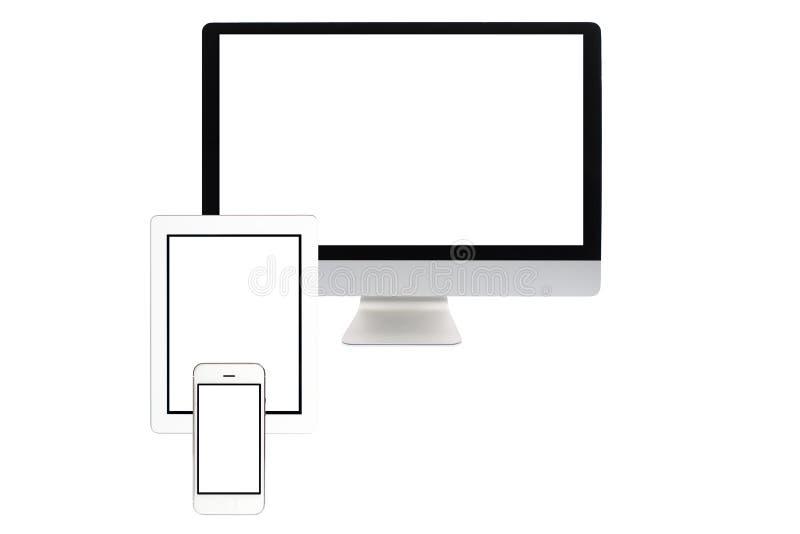 komputer odizolowywający ekran fotografia royalty free