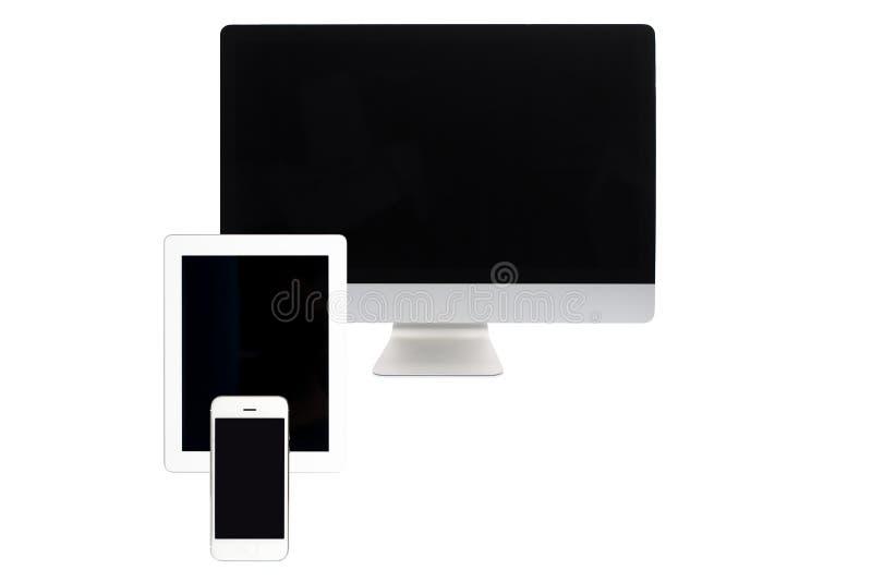 komputer odizolowywający ekran obrazy stock