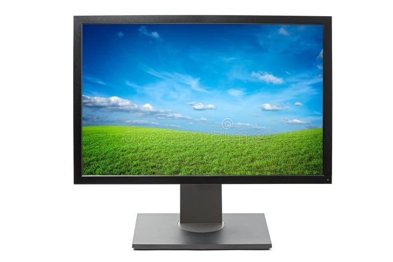komputer odizolowywający monitor zdjęcie stock