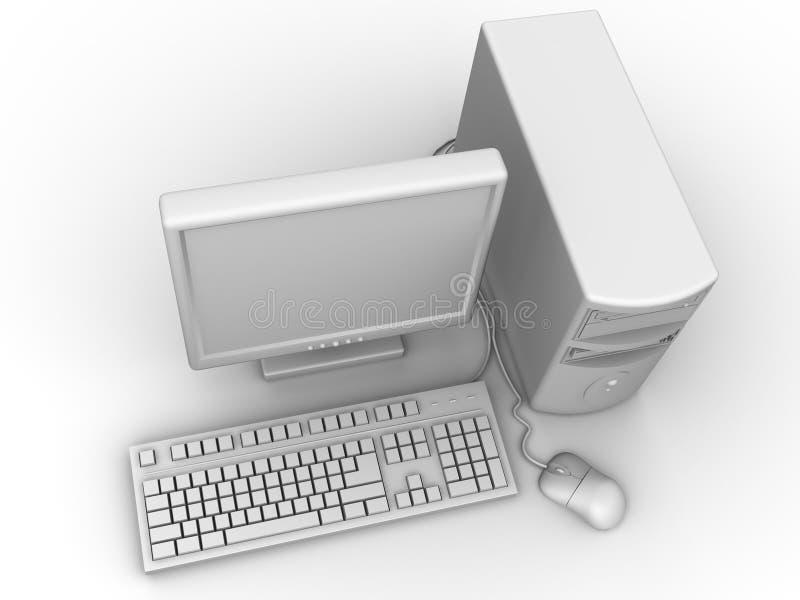 komputer osobisty royalty ilustracja
