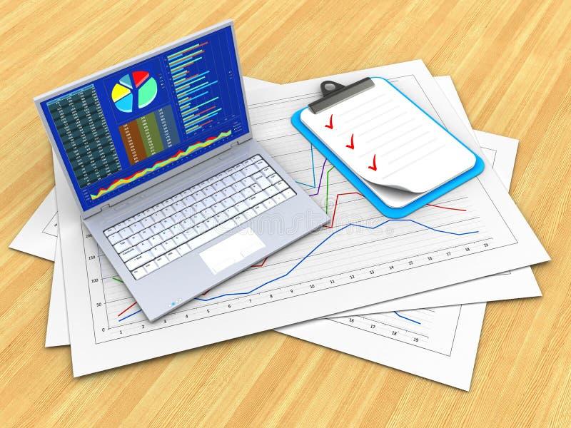 komputer osobisty 3 d ilustracja wektor