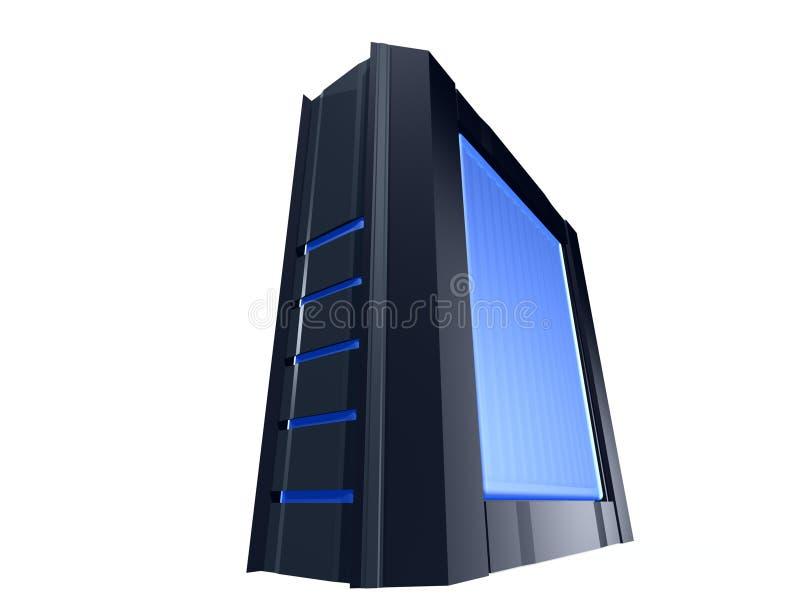 komputer osobisty wieży czarny ilustracja wektor