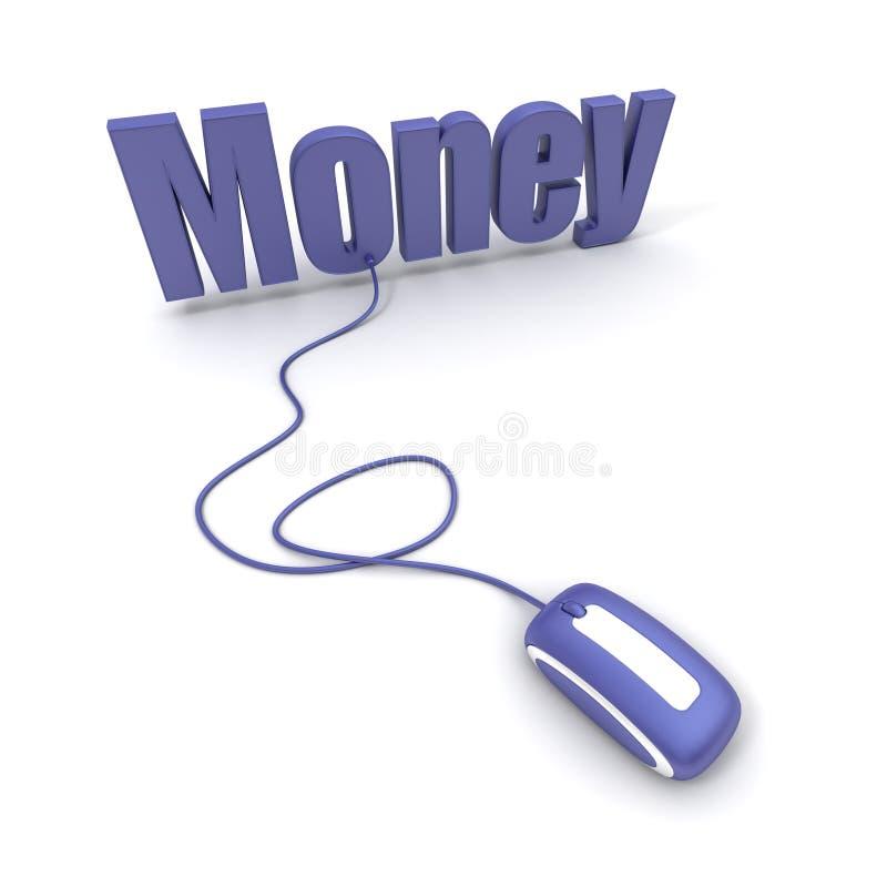 komputer pieniądze mysz związana sformułować royalty ilustracja