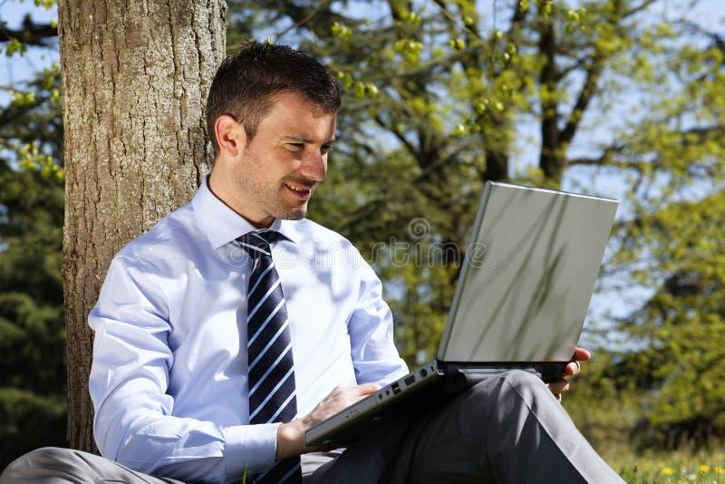 komputer plenerowy obrazy stock