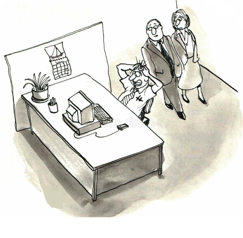 Komputer Rozbijający royalty ilustracja