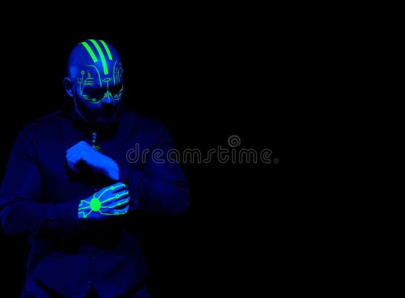 Komputer Rozdziela Blacklight charakteru obrazy royalty free