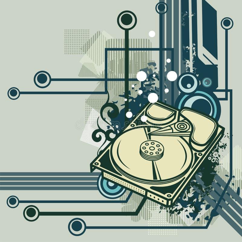 komputer serii tło royalty ilustracja