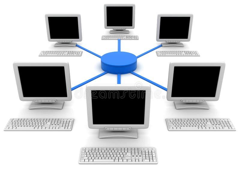 komputer sieć royalty ilustracja