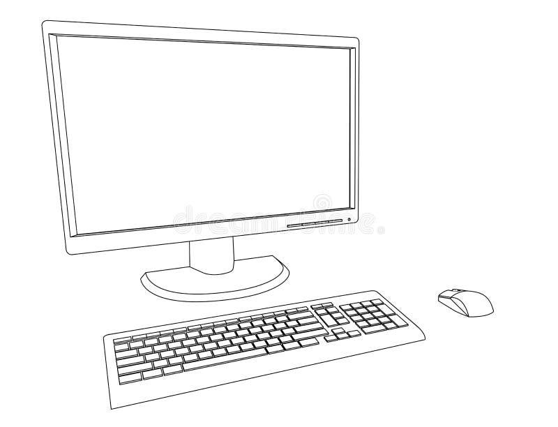 Komputer Stacjonarny ilustracji