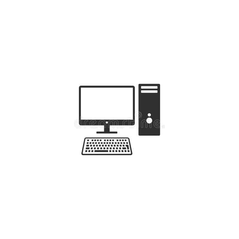 Komputer stacjonarny stacji roboczej wektor 2 ilustracja wektor