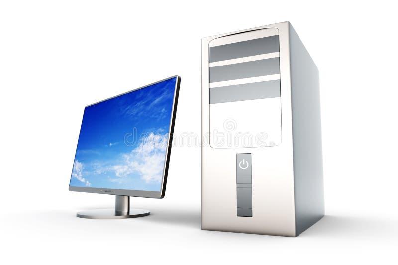 komputer stacjonarny system ilustracji