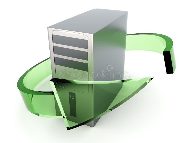 komputer stacjonarny target1500_0_ royalty ilustracja