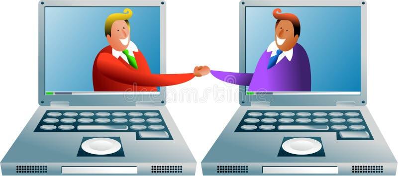 komputer transakcji ilustracja wektor
