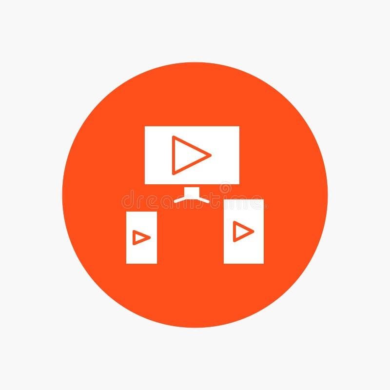 Komputer, wideo, projekt ilustracji