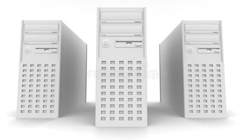 komputer wieże royalty ilustracja