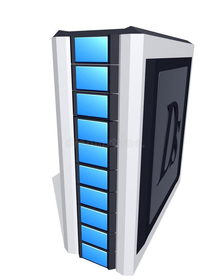 komputer wieży royalty ilustracja