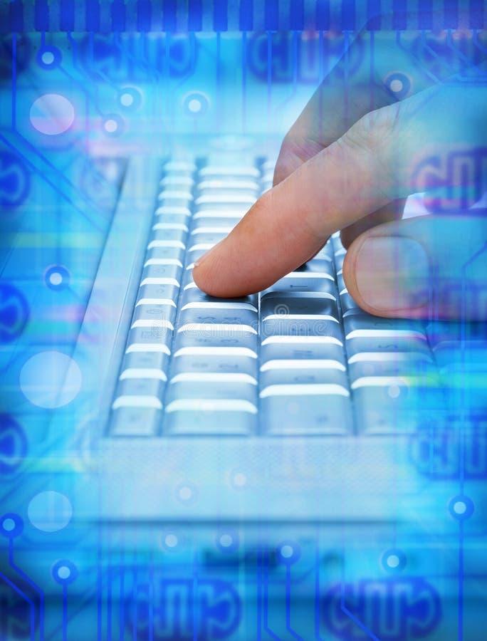 komputer wręcza technologie informacyjne zdjęcie stock