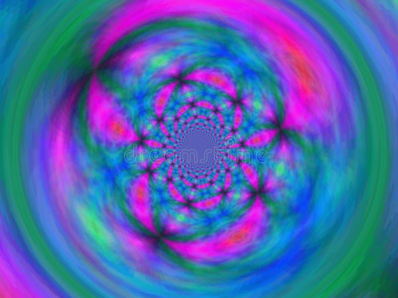 Komputer wytwarza? fractal grafik? dla sztuki, projekta i rozrywki kreatywnie, ilustracja wektor