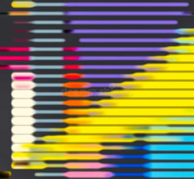 Komputer wytwarzająca żywego hitech abstrakcjonistyczna sztuka 2 royalty ilustracja
