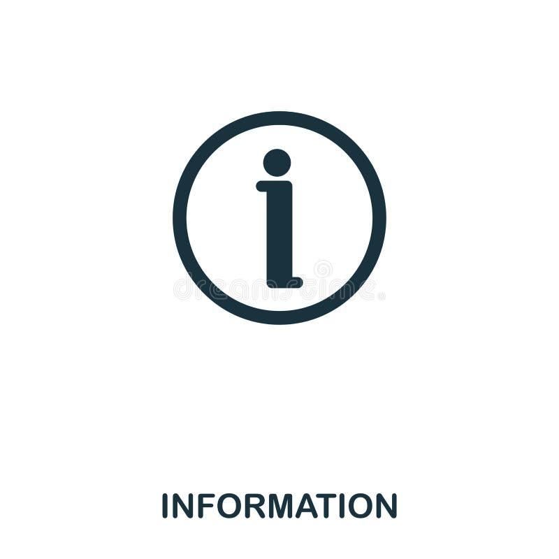 komputer wytwarzająca ikony wizerunku informacja Kreskowego stylu ikony projekt Ui Ilustracja ewidencyjna ikona piktogram odizolo ilustracja wektor