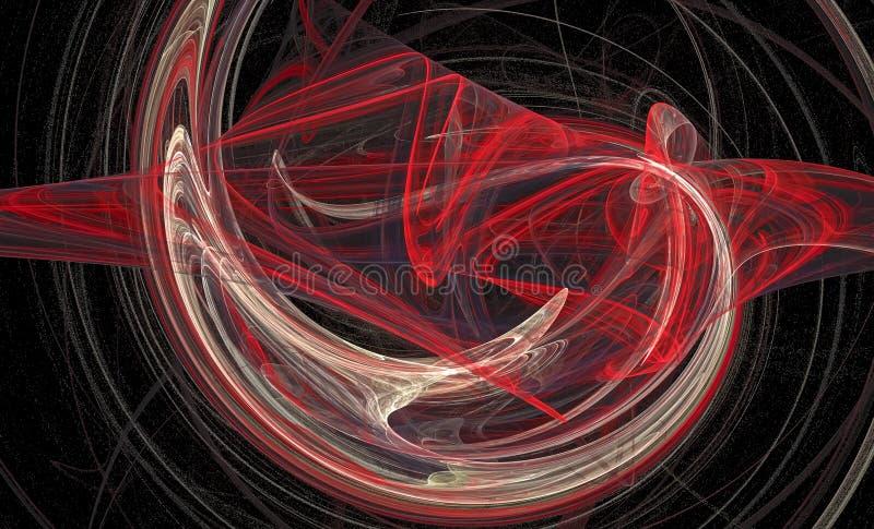 Komputer wytwarzaj?cy abstrakt spirali fractal p?omienia wizerunek ilustracji