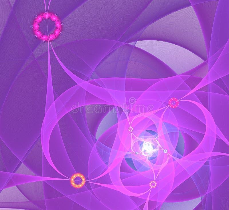 Komputer wytwarzający fractal wizerunek ilustracji