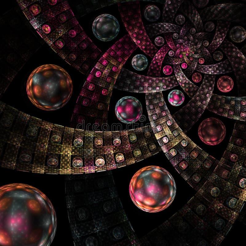 Komputer wytwarzający fractal wizerunek ilustracja wektor