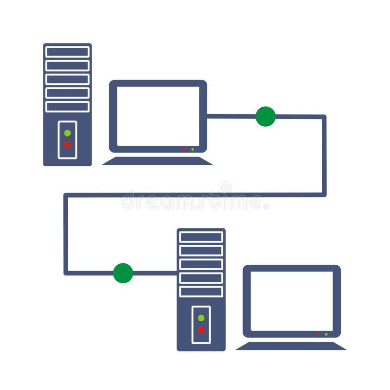 komputerowa domowa sieć ilustracja wektor