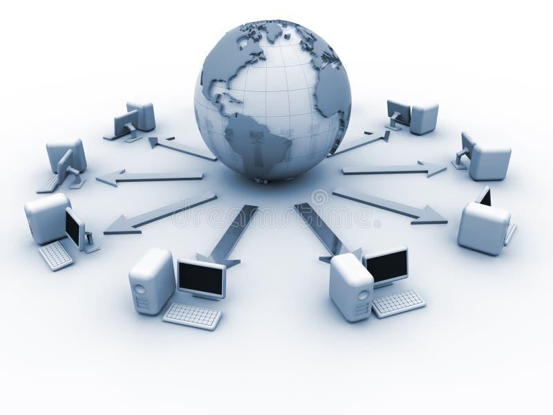 komputerowa globalna sieć ilustracja wektor