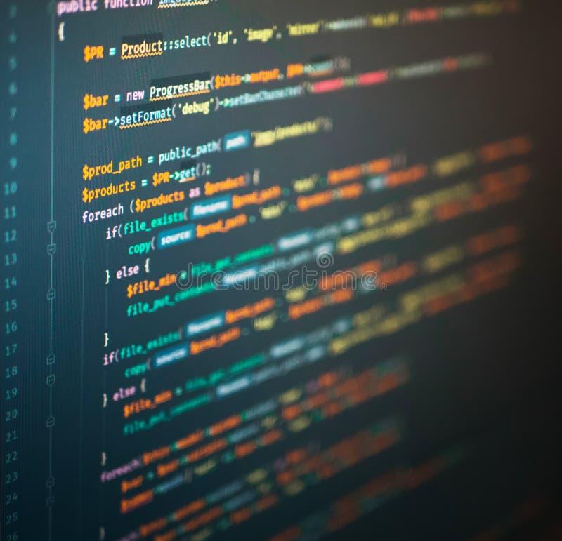 Komputerowa inżynieria strona internetowa w kodu redaktorze zdjęcie royalty free