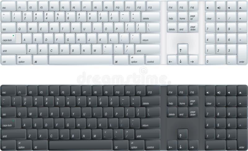 komputerowa klawiatura royalty ilustracja