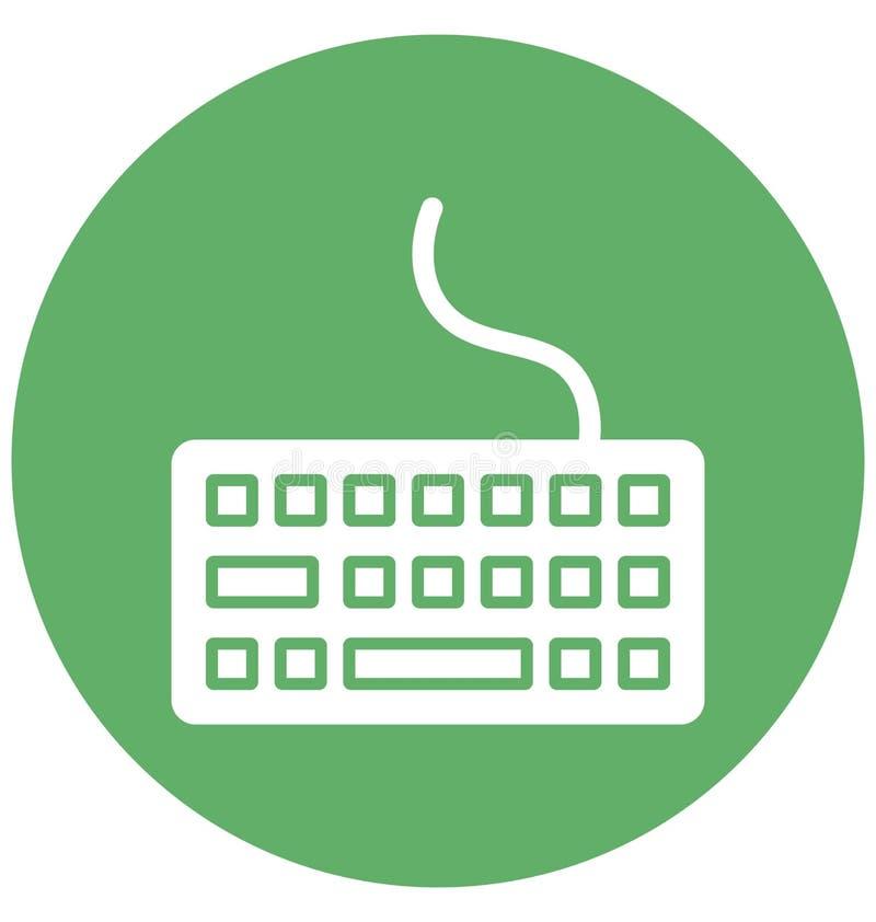 Komputerowa klawiatura Odizolowywał Wektorową ikonę która może łatwo redagować lub modyfikować ilustracja wektor