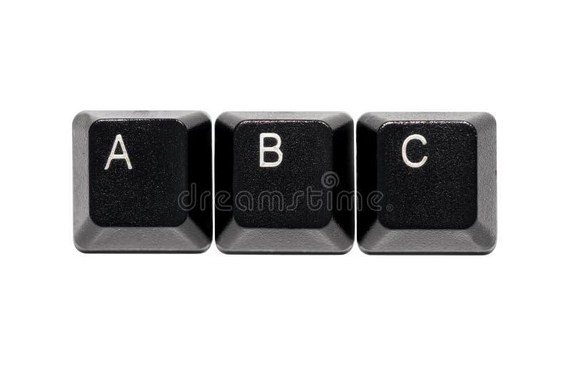 Komputerowa klawiatura pisze list b c klucze fotografia royalty free