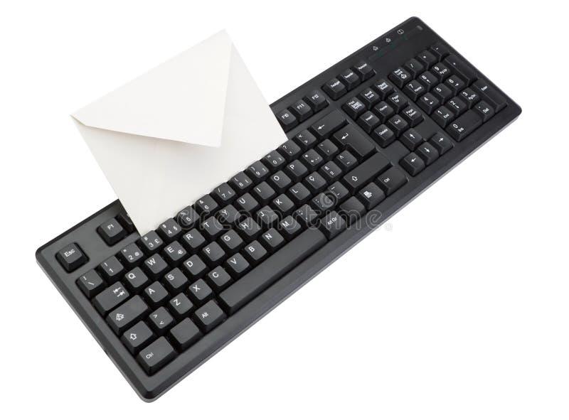 Komputerowa klawiatura z kopertą dla poczta inside. zdjęcie stock