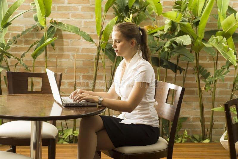 komputerowa kobieta obraz stock