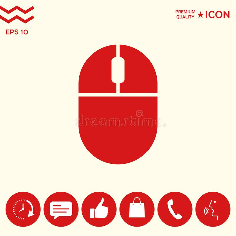 Komputerowa myszy ikona royalty ilustracja