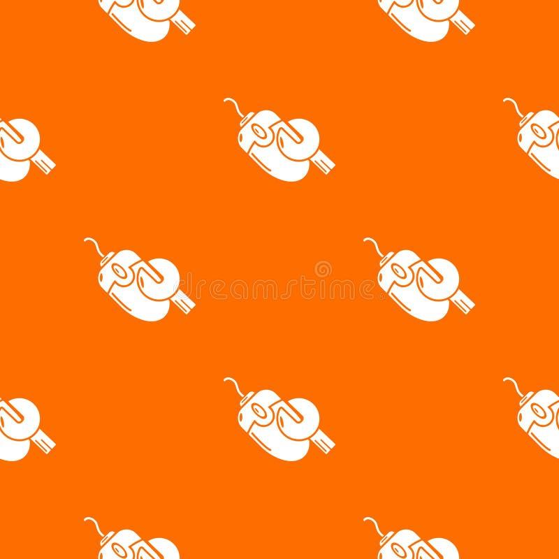 Komputerowa myszy naprawy wzoru wektoru pomarańcze royalty ilustracja