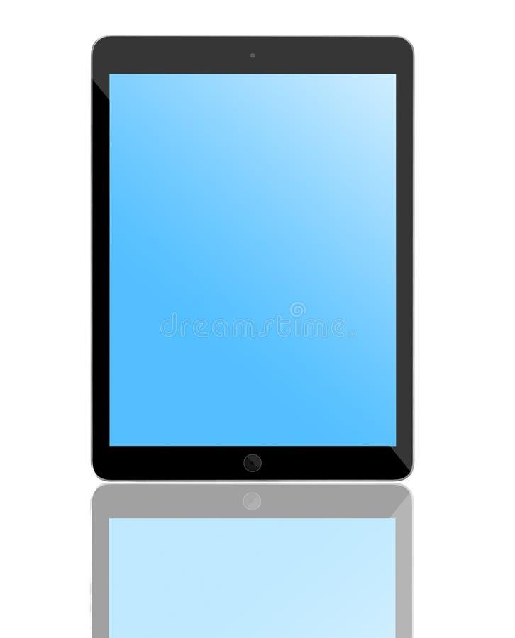 Komputerowa pastylka z pustym błękitnym ekranem royalty ilustracja